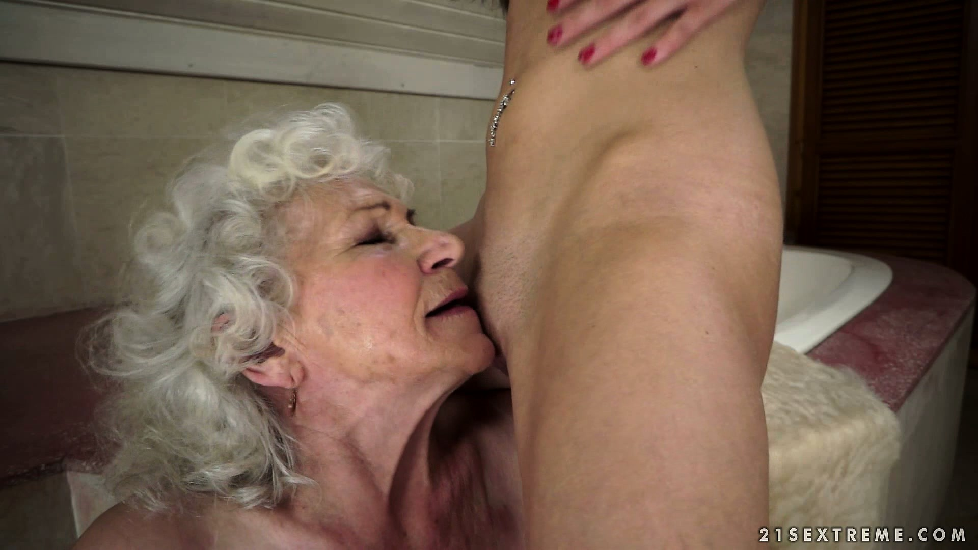Porno Video of Young Lezzie Trying To Impress An Old Grandma With Her Oral Skills