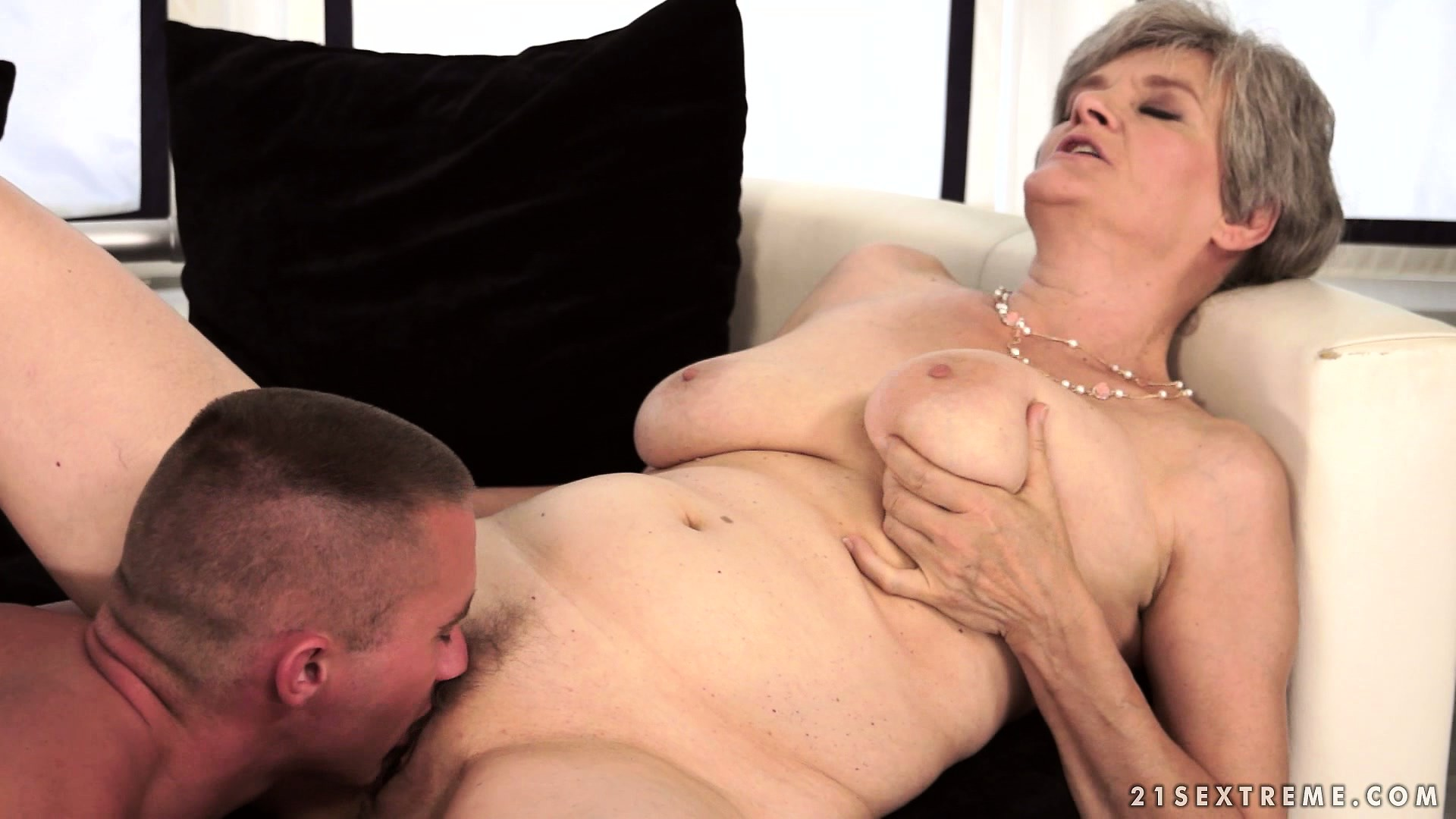 Porno Video of The Best Thing In Life, For This Granny, Is Having A Studly Young Dick To Play With