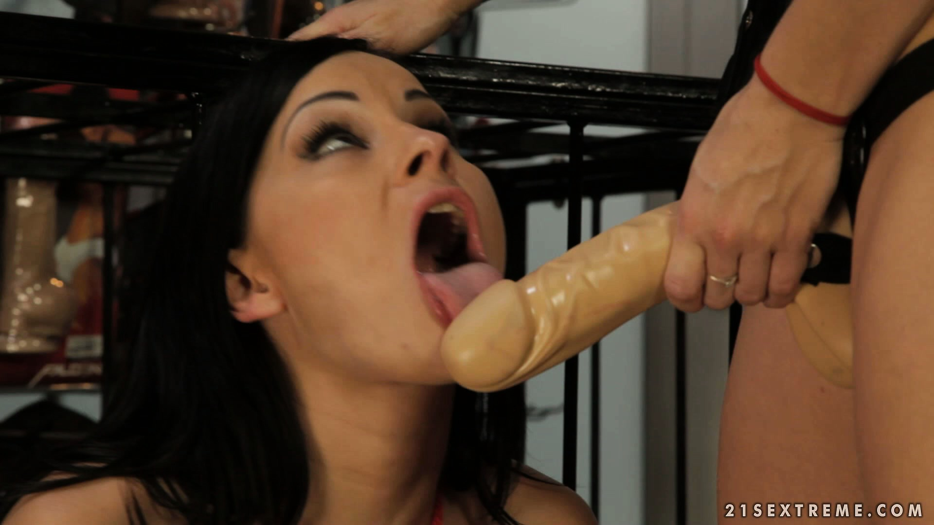 Porn Tube of Wannabe Slavegirl Ready To Be Pushed Into The Cage And Dominated