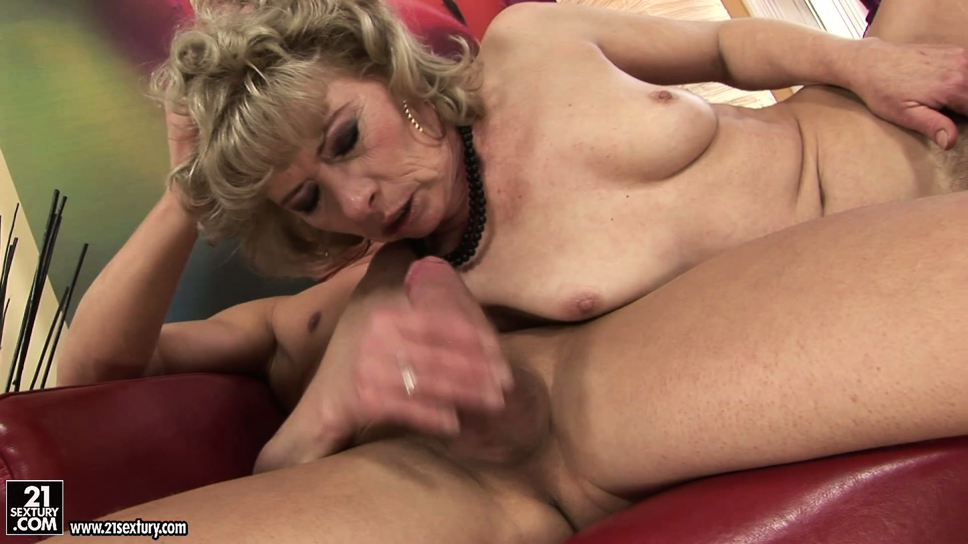 Sex Movie of Real Dirty Granny Gets To Suck On A Young Lad's Massive Member