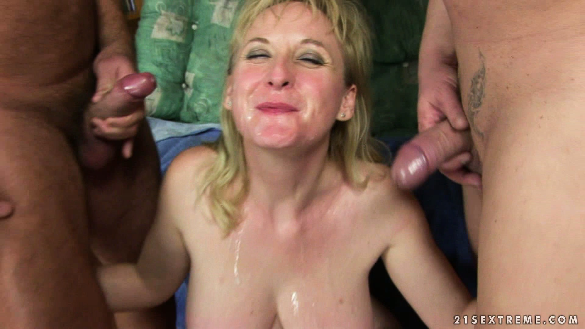 Porno Video of After Getting Pissed On And Fucked Hard This Blonde Slut Gets The Cum Finale
