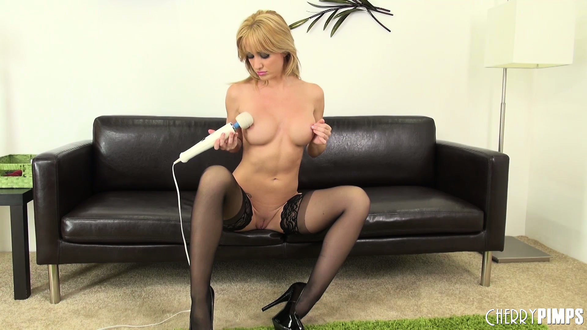 Porn Tube of Angela Shows Her Nice Tits And Gets Naked To Vibrate Her Clit