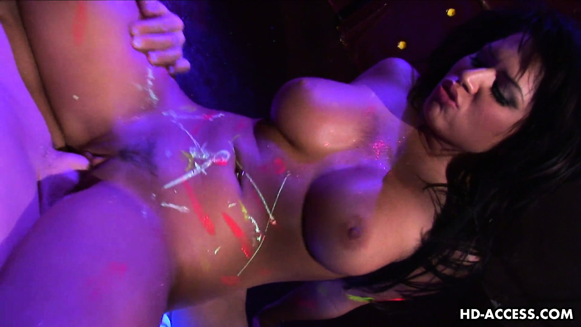 Porno Video of Eva Angelina Fails To Read Notice On Door Of Psy Trance Nightclub