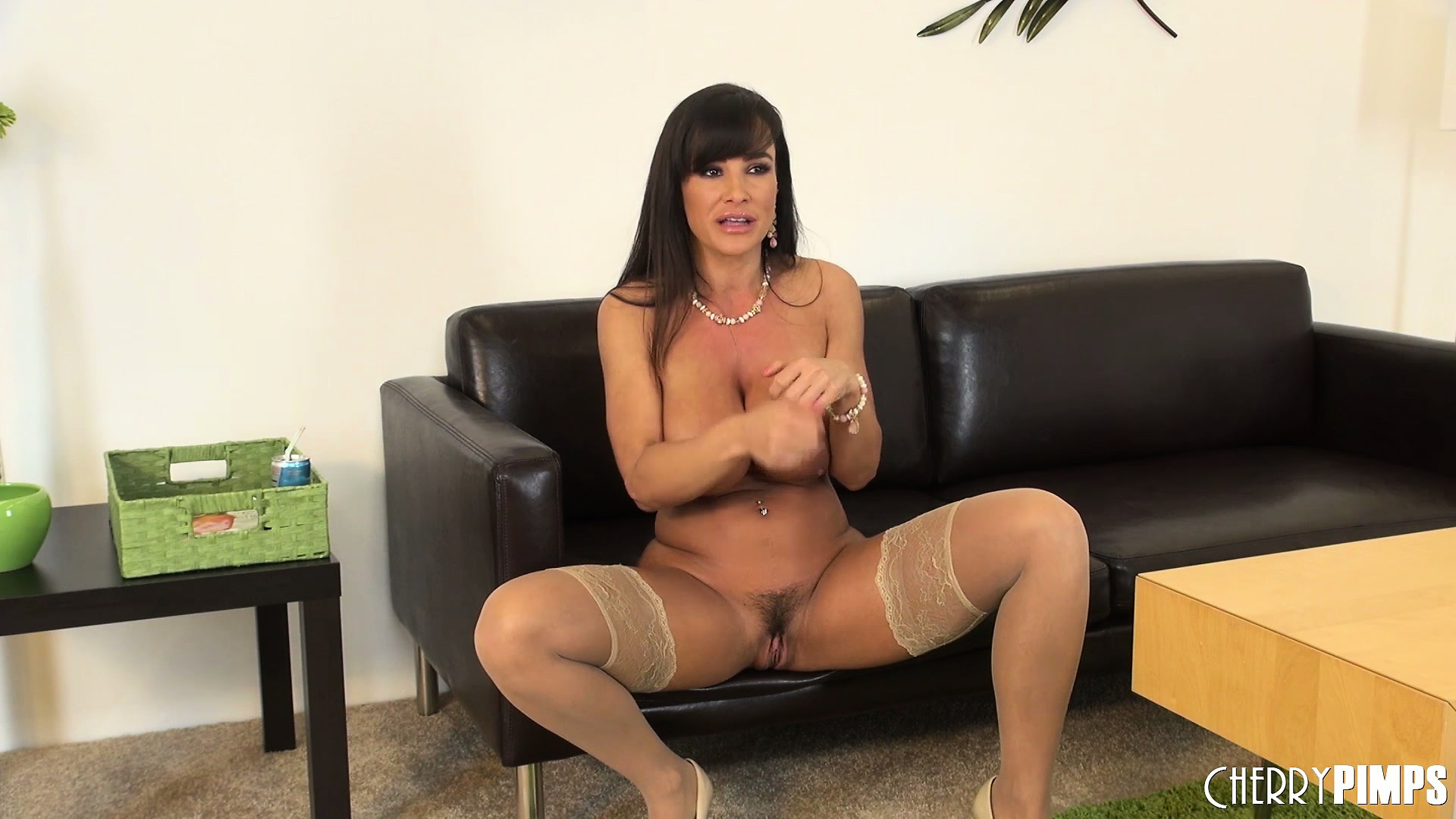 Porn Tube of Lisa Ann Spreads Her Legs While Wearing A Pair Of Nylon Stockings