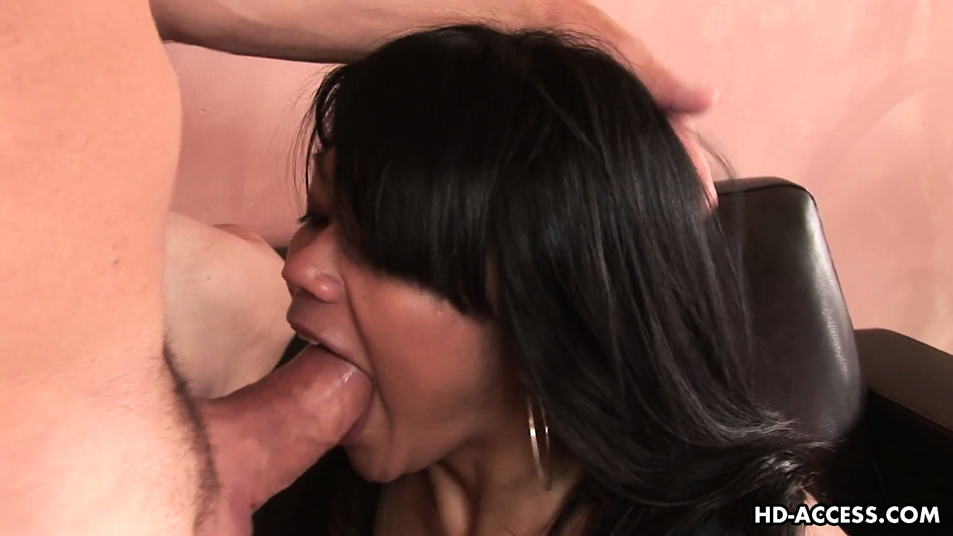 Porn Tube of Oldy-baldy Getting His Cock Serviced By A Young Asian Beauty