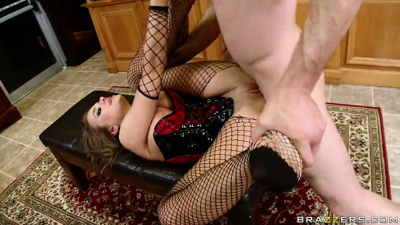 Porn Tube of The Luscious Brunette Spreads Her Pantyhosed Legs And Gets Fucked Deep