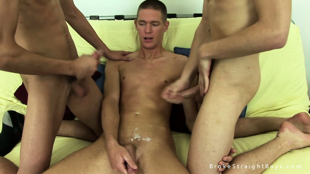 Porn Tube of Two Sexy Boys Cum Over Their Friend's Abs After A Hot Threesome