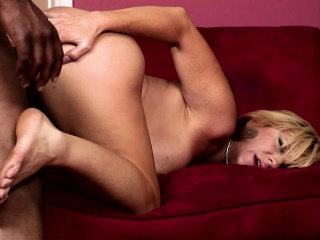 bodacious brittany blaze takes a black stick for an exciting adventure