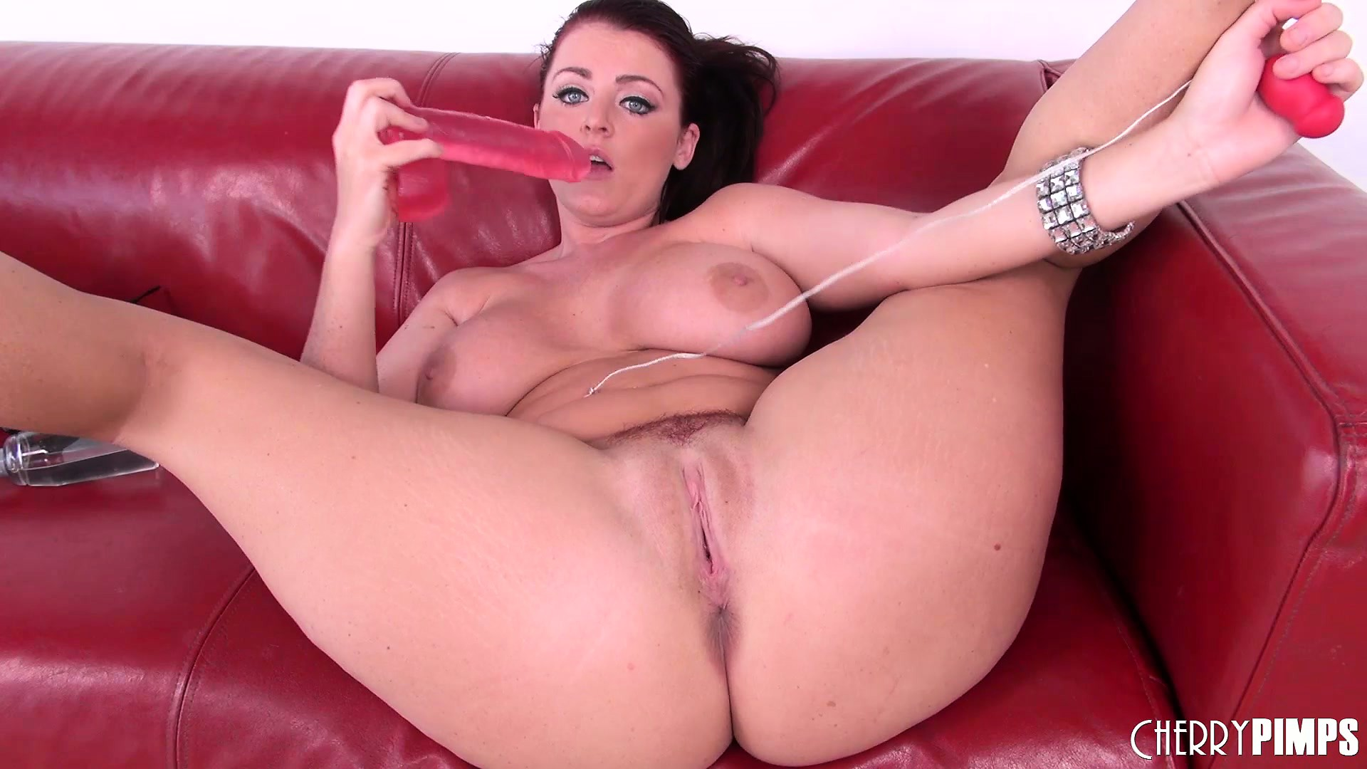 Porn Tube of Redheaded Milf Sophie Dee Jiggles The Big Dildo In Her Cunt And Vibes Her Clit