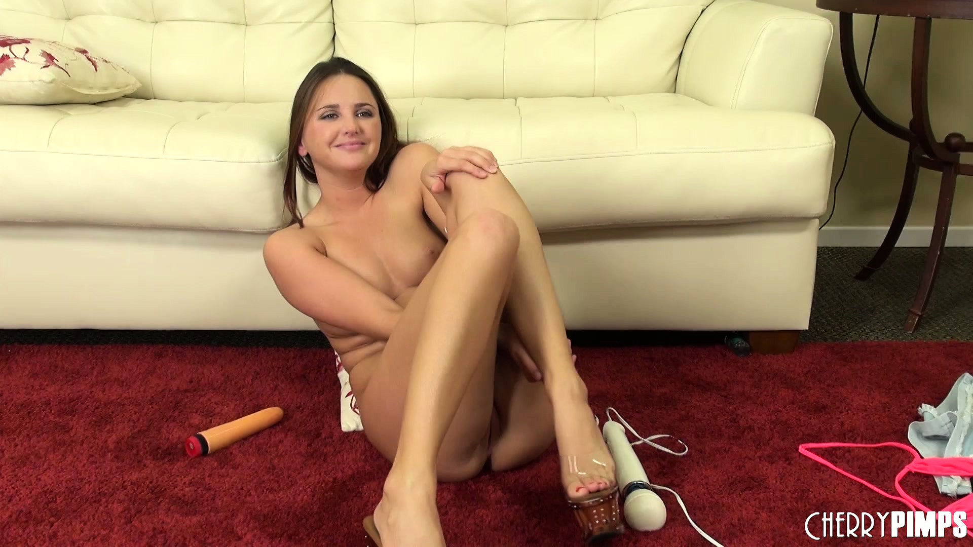 Porn Tube of Hope Sits On The Dildo Showing Her Hot Ass, Then Vibrates Her Clit