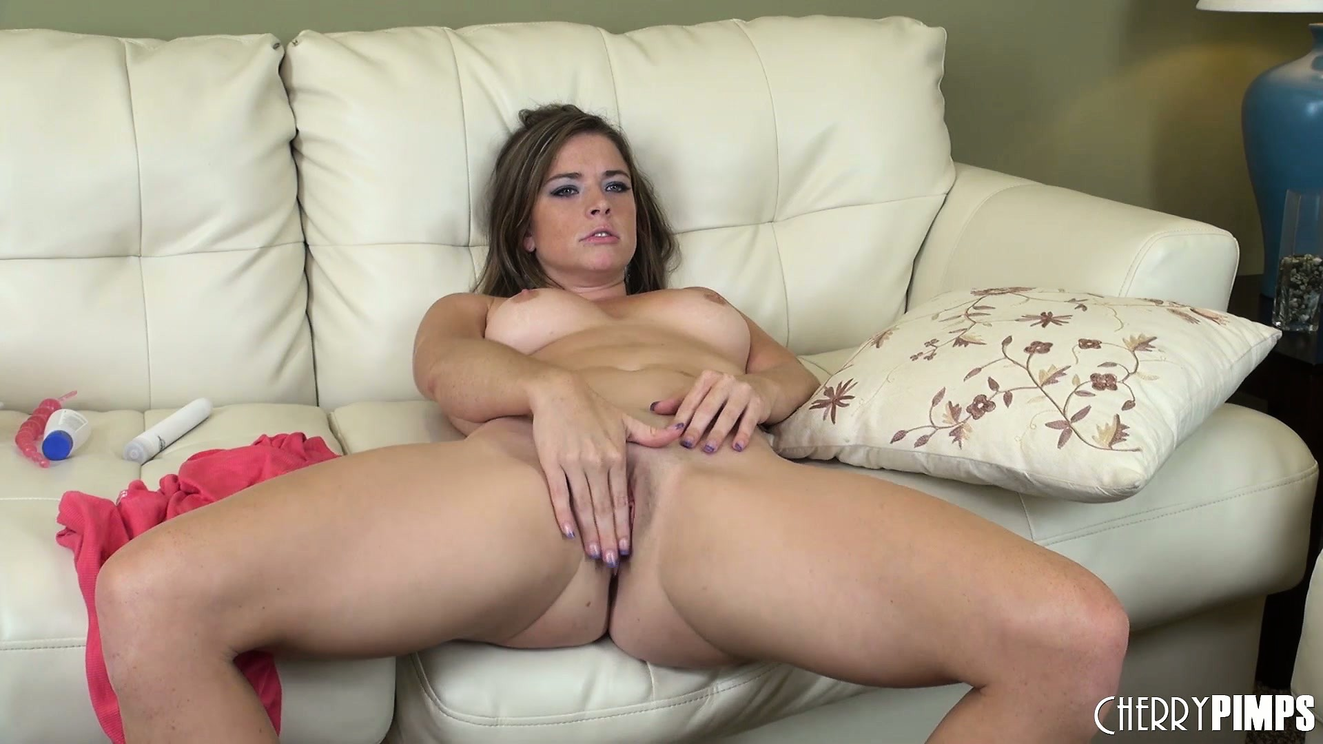 Porno Video of Sleek And Charming Bim Sierra Sanders Is Rubbing Her Sweet, Pink Joy Buzzer