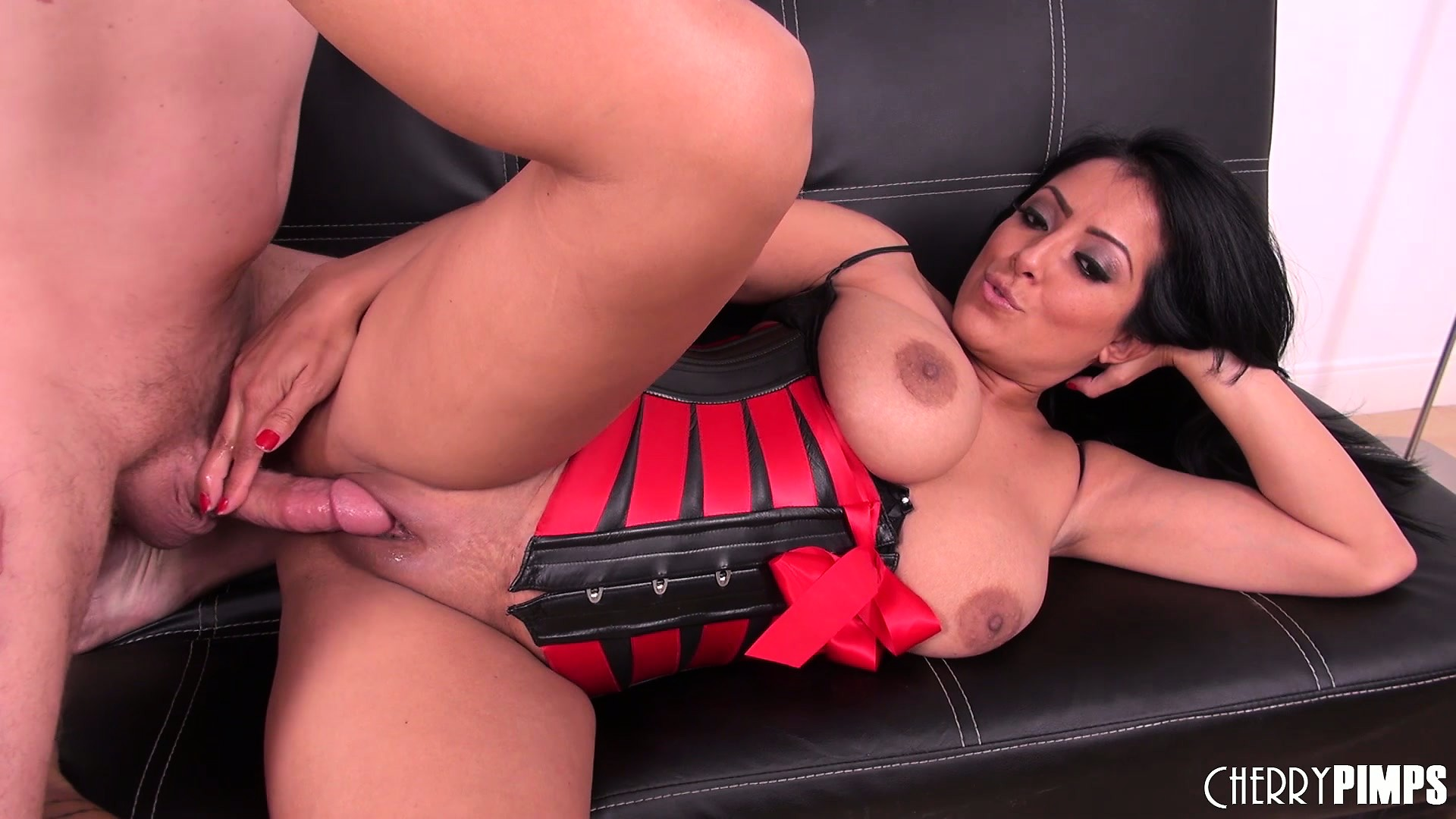 image Dual fuckdoll strap on threesome