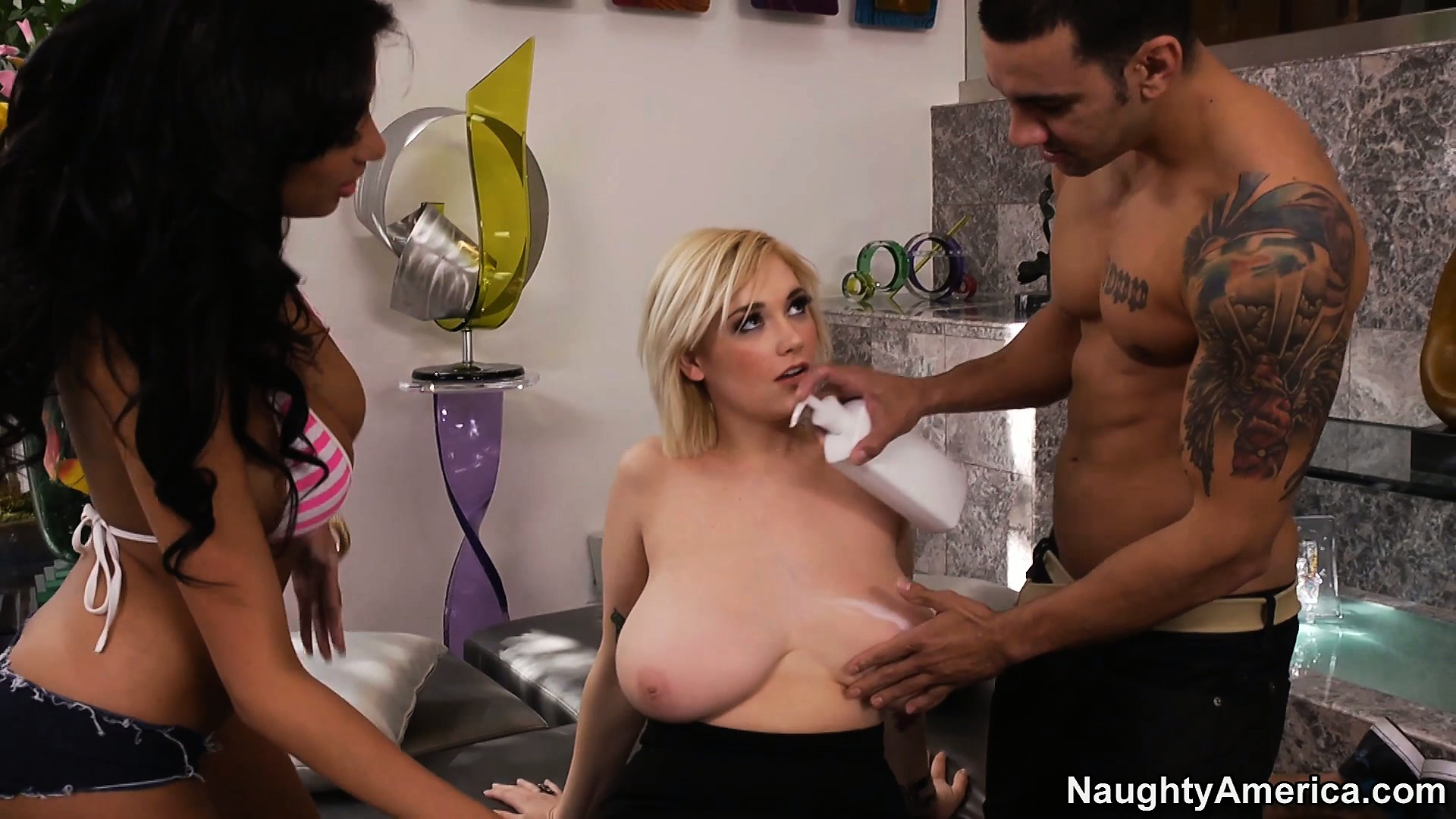 Porno Video of Anissa Kate Gets A Friend To Join Them In A Productive Threesome
