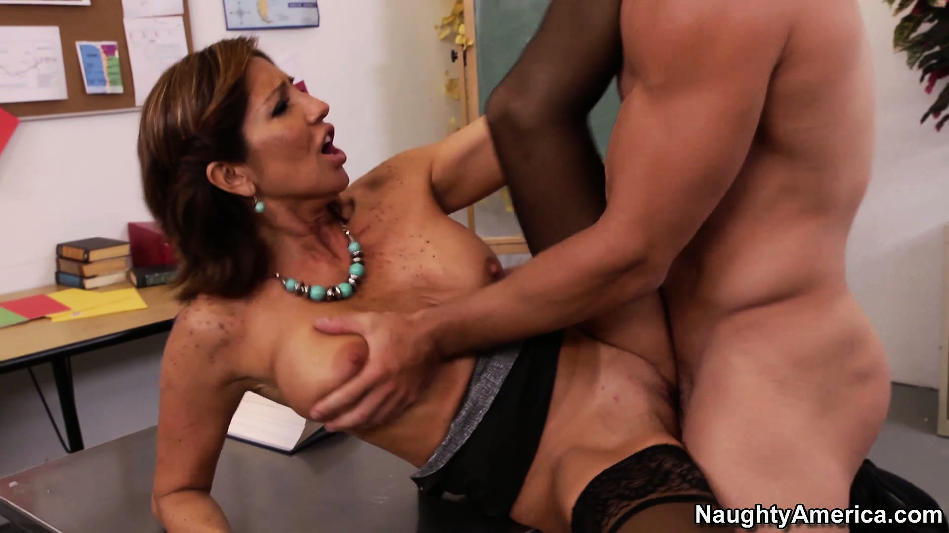 Porn Tube of Stacked Latina Teacher Tara Holiday Gives Him A Lesson In Human Pleasure