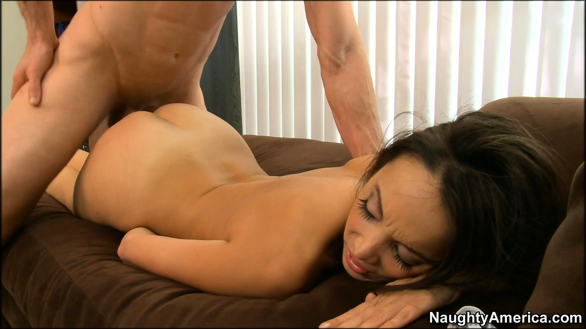 Porno Video of Hot Oriental Babe Katsuni Gets Drilled From Behind On The Lounge Chair