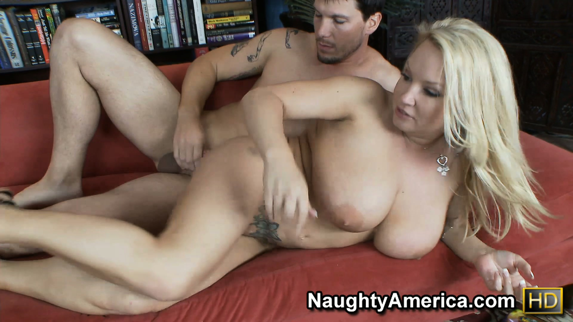 Porno Video of Plumper Blonde Milf Rachel Love Slurps His Stick And Gets Tooled In Her Tatted Twat