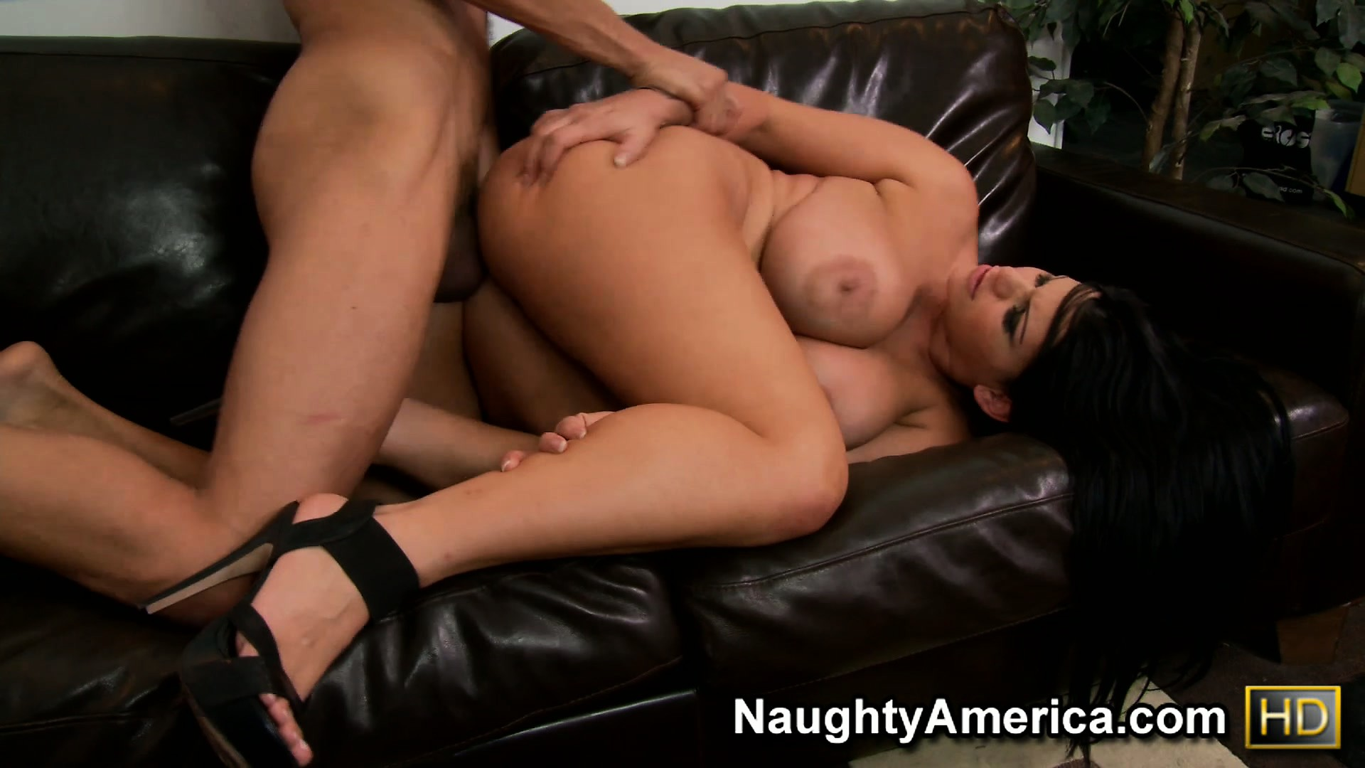 Porn Tube of Bending Forward, Angelina Has Him Pumping Her Tight Ass Hard And Deep From Behind