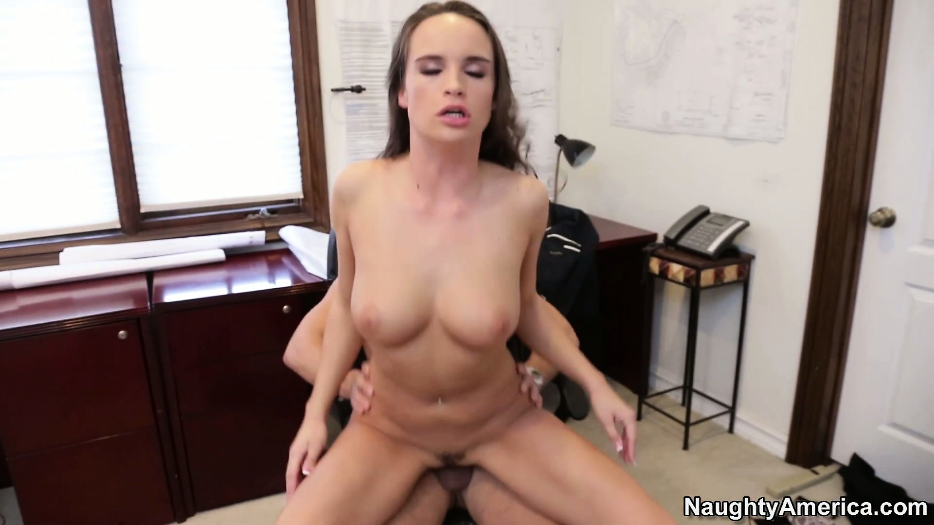 Porn Tube of Teal Conrad Is New And Eager To Please The Boss And His Raging Boner