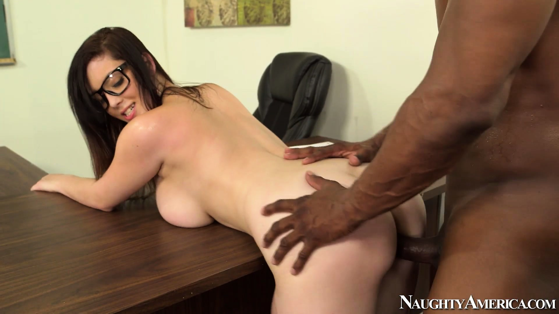 Porno Video of Naughty Schoolgirl Noelle Easton Swallows The Teacher's Big Black Tool