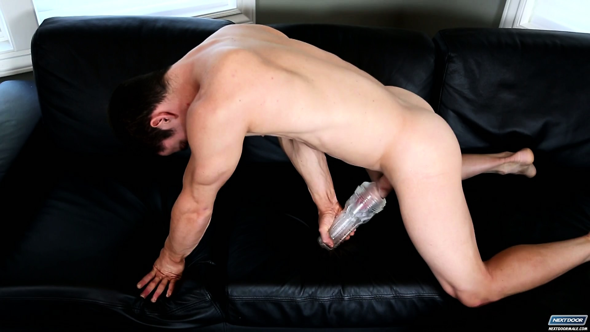 Porno Video of He Jacks Off And Then Gets A Pump To Make His Cock Bigger, And Shows Ass