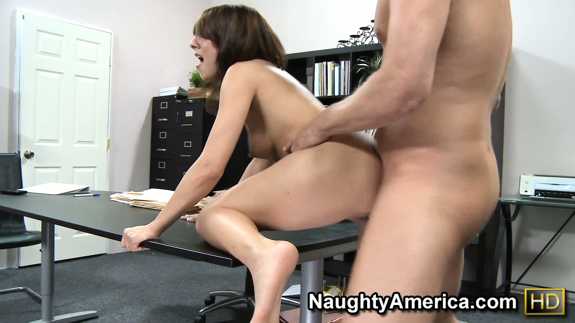 Porn Tube of Young Brunette Lexi Bloom Lets The Boss Have Access To Her Hot Twat