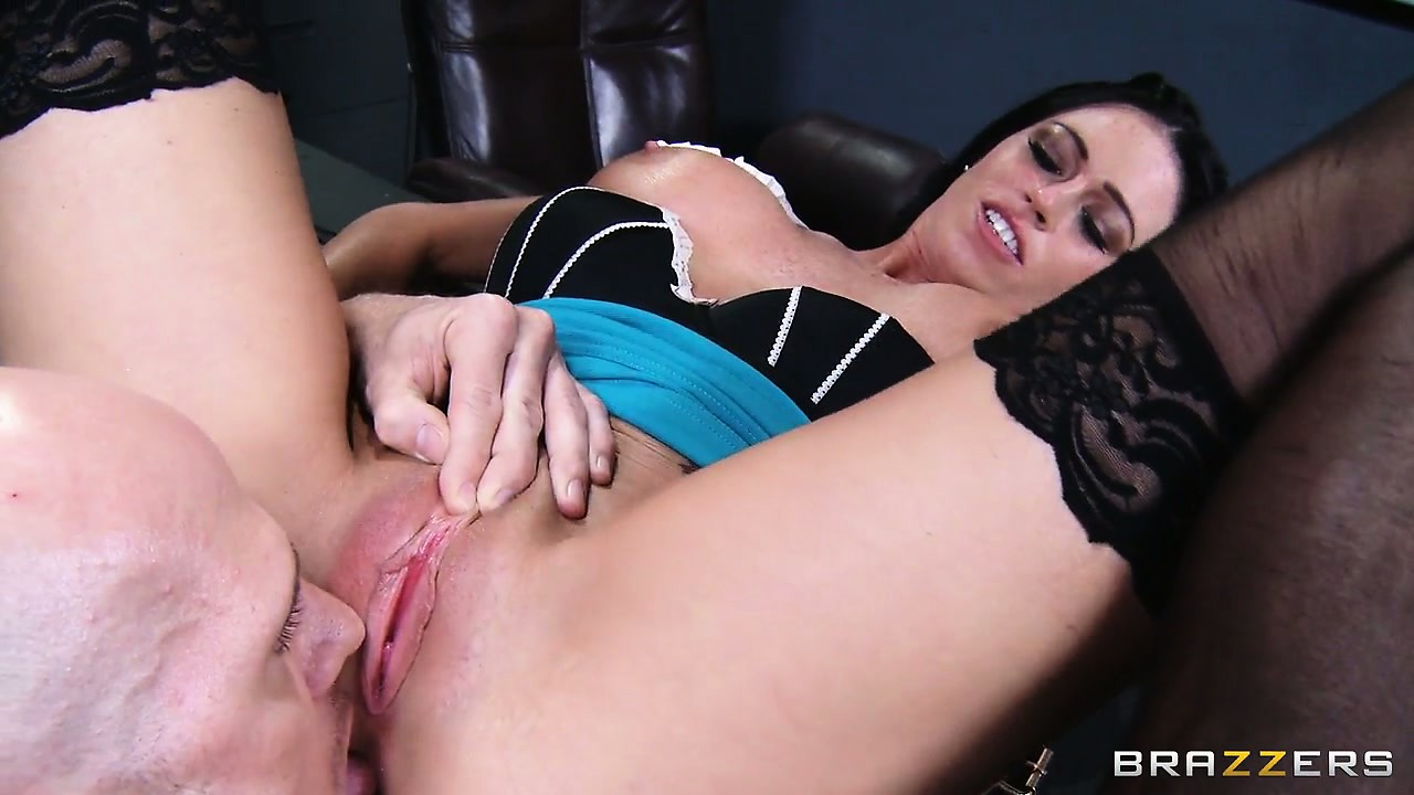 Porn Tube of With Her Stockings And Top On Aryana Augustine Is Getting Her Pussy Well Licked
