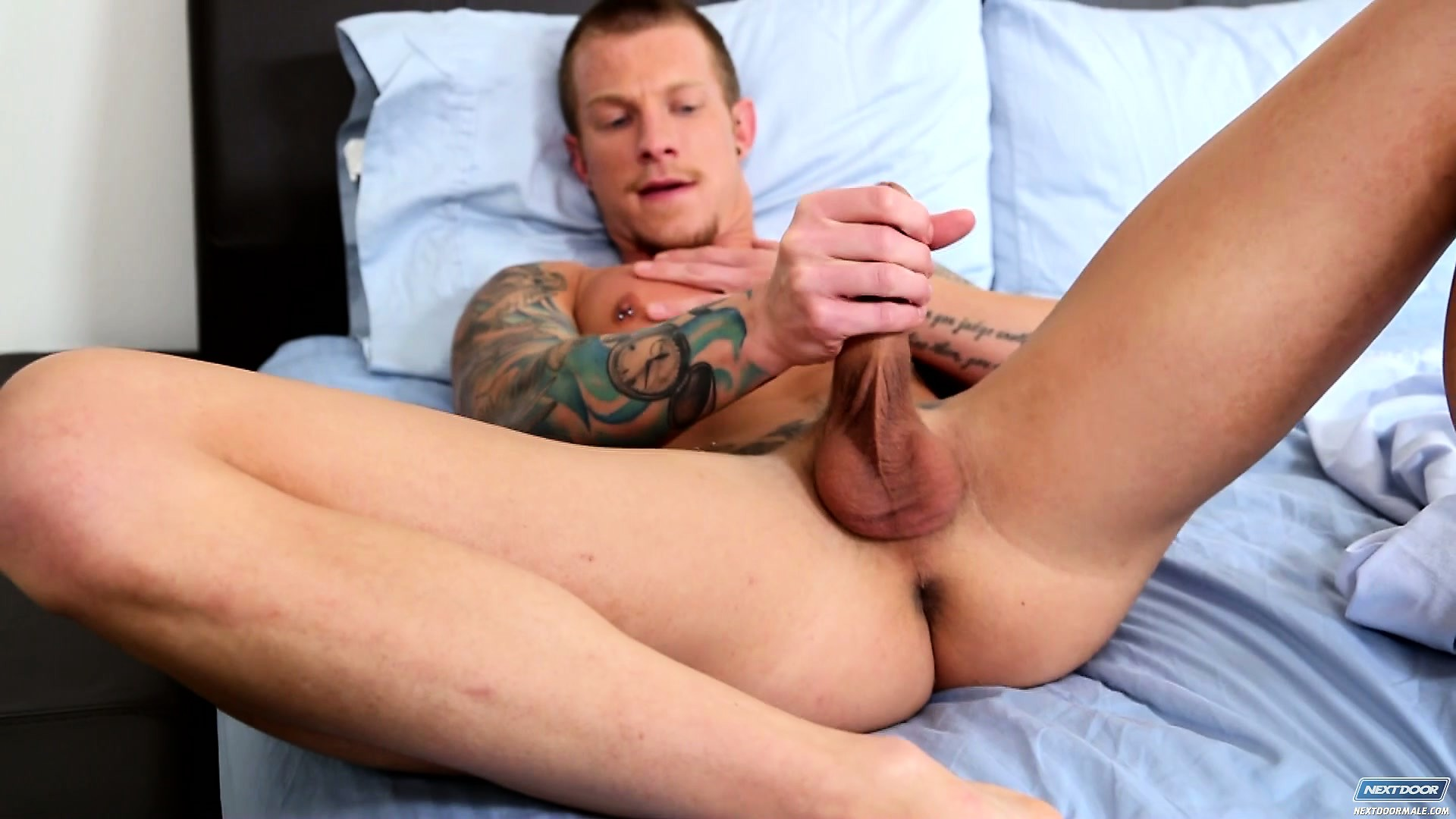 Porno Video of Jaxon Colt Spreads His Body Across The Bed Pleasing His Big Shaft