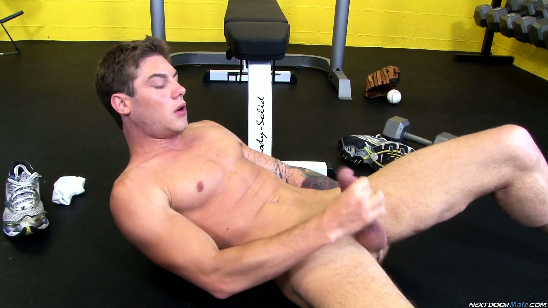 Porno Video of Vance Lies On The Floor Jerking His Shaft Until He Reaches His Orgasm