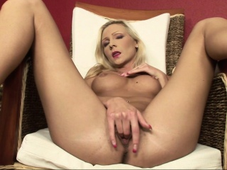The Blonde Sexbomb Brings Out Her Toys To Play With Herself