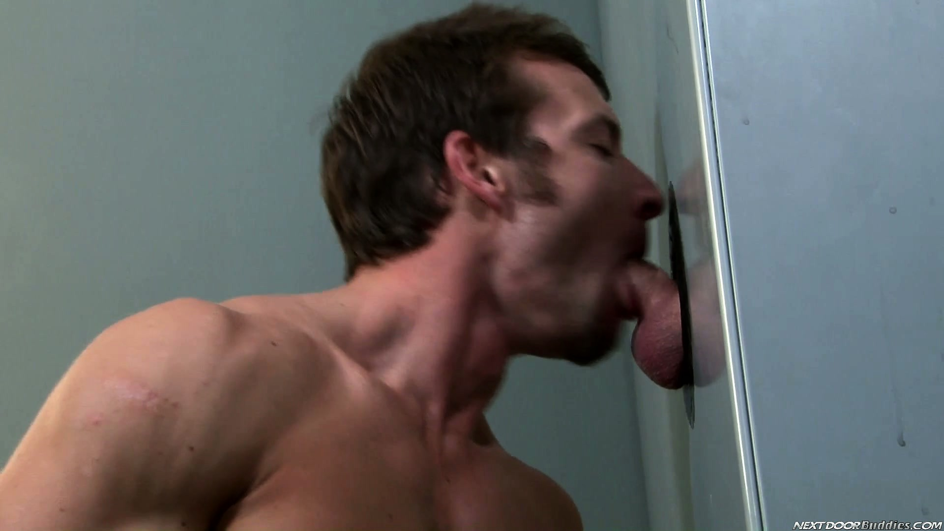Porno Video of Through A Hole In The Wall A Young Stud Slides A Cock In His Mouth