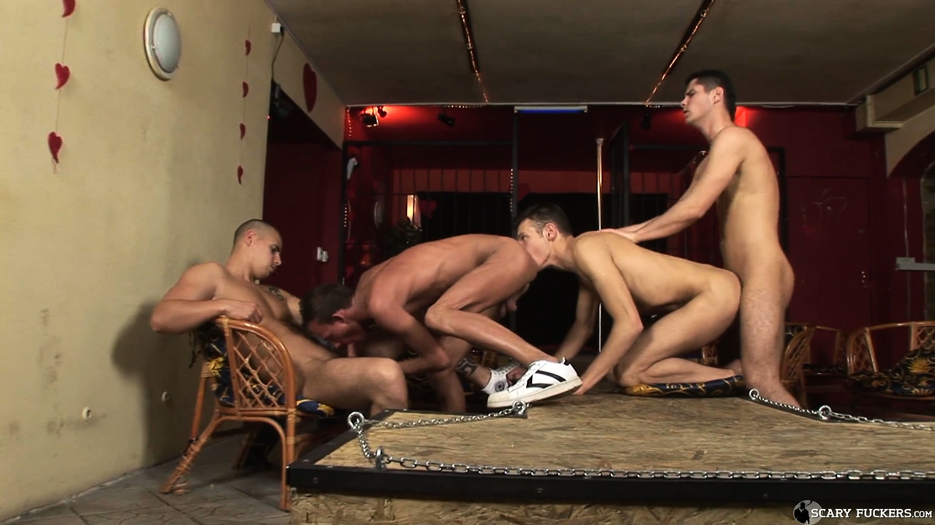 Porn Tube of The Four Guys Get Together And Please Each Other In A Wild And Creative Way