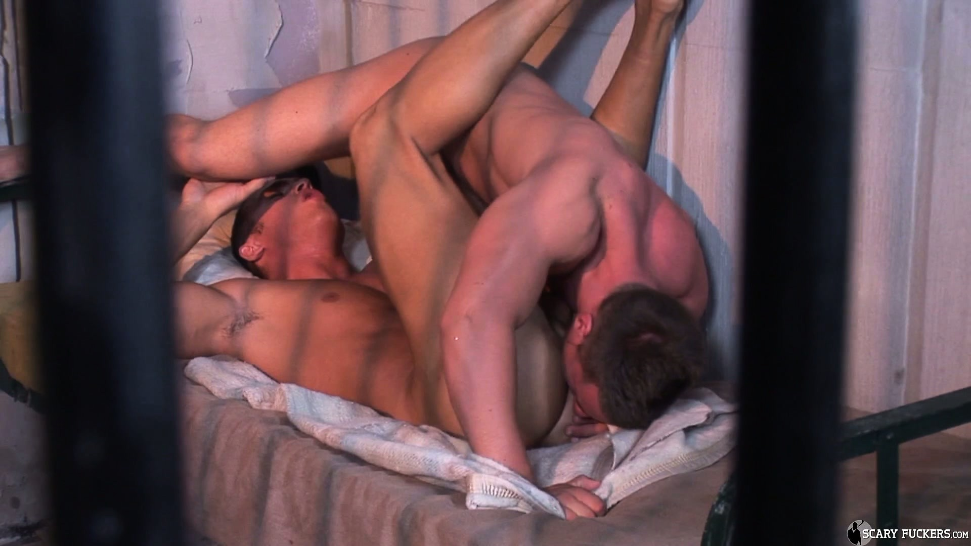Porno Video of Two Handsome Studs Make Use Of Their Time In Jail To Fuck Hard