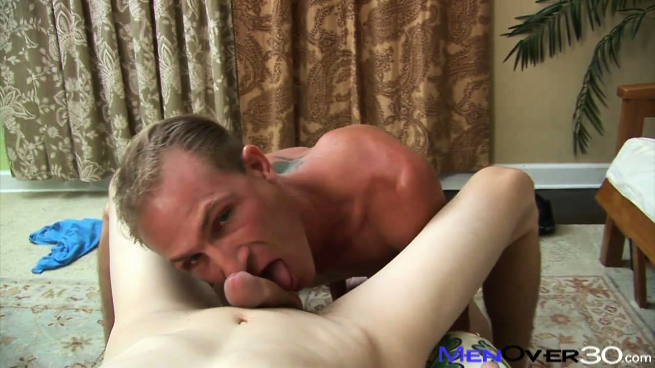 Sex Movie of Mature Man Gets His Boner Crammed Down This Twink's Throat And Up His Ass