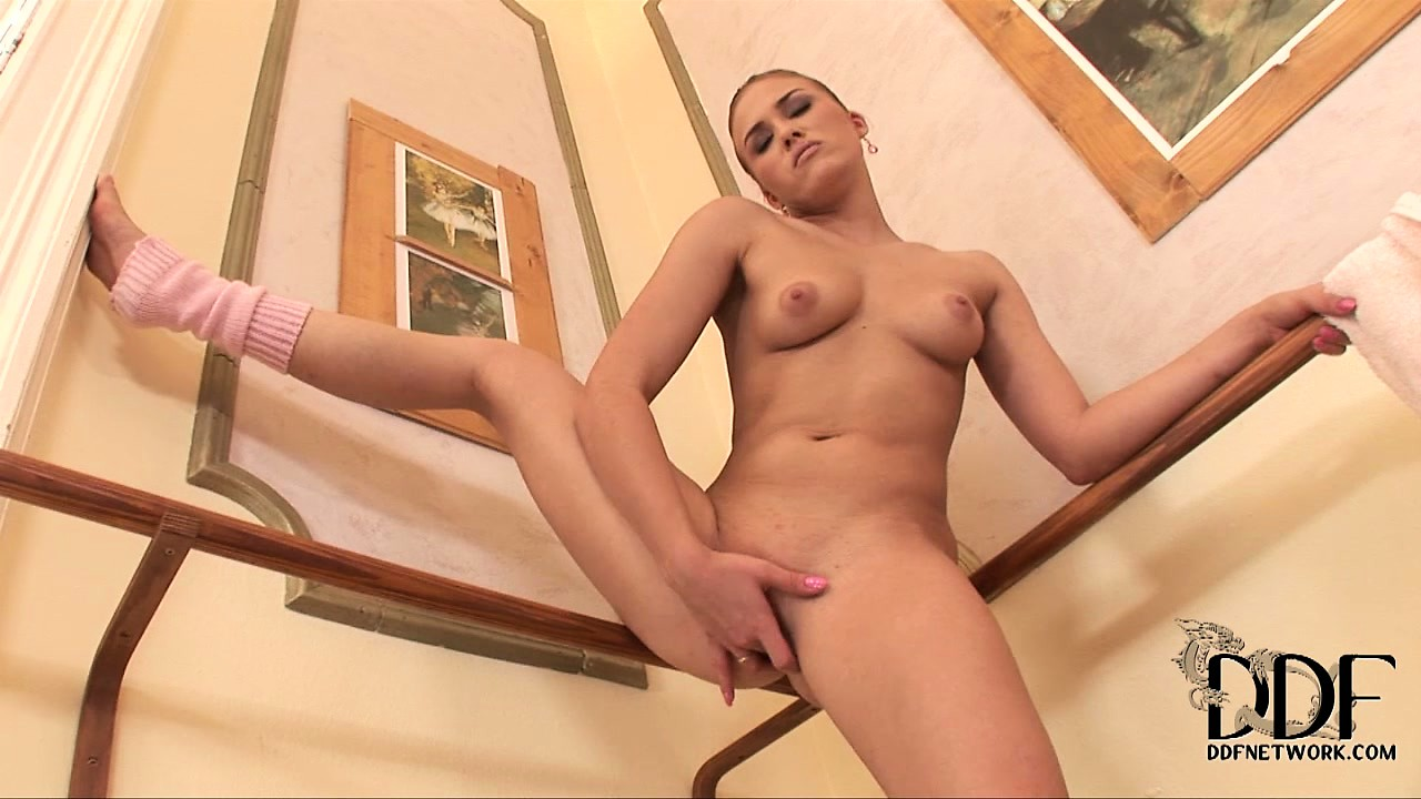 Porn Tube of Dazzling Brunette With Perky Tits And A Cute Ass Fingers Her Twat And Drives It To Climax