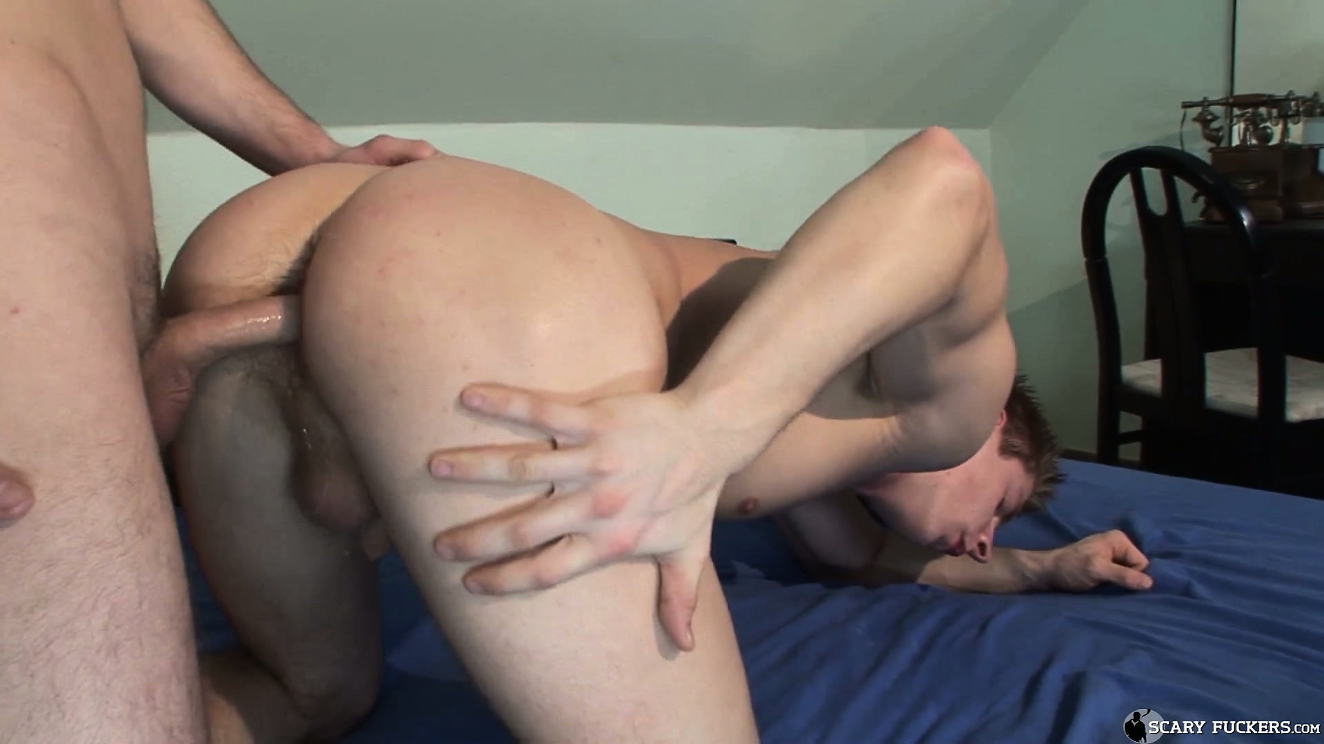 Porno Video of His Horny Tattooed Roomie Is Ready For Round Two In His Tight Hairy Ass