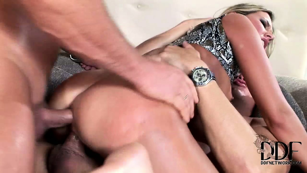 Porno Video of Big Ass, Fair-haired Whore Is Fond Of Hardcore Double Penetration