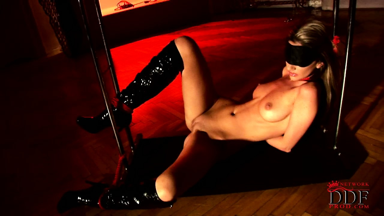 Porno Video of She Gets Tied Up In Different Positions So She Can Be Viewed Differently