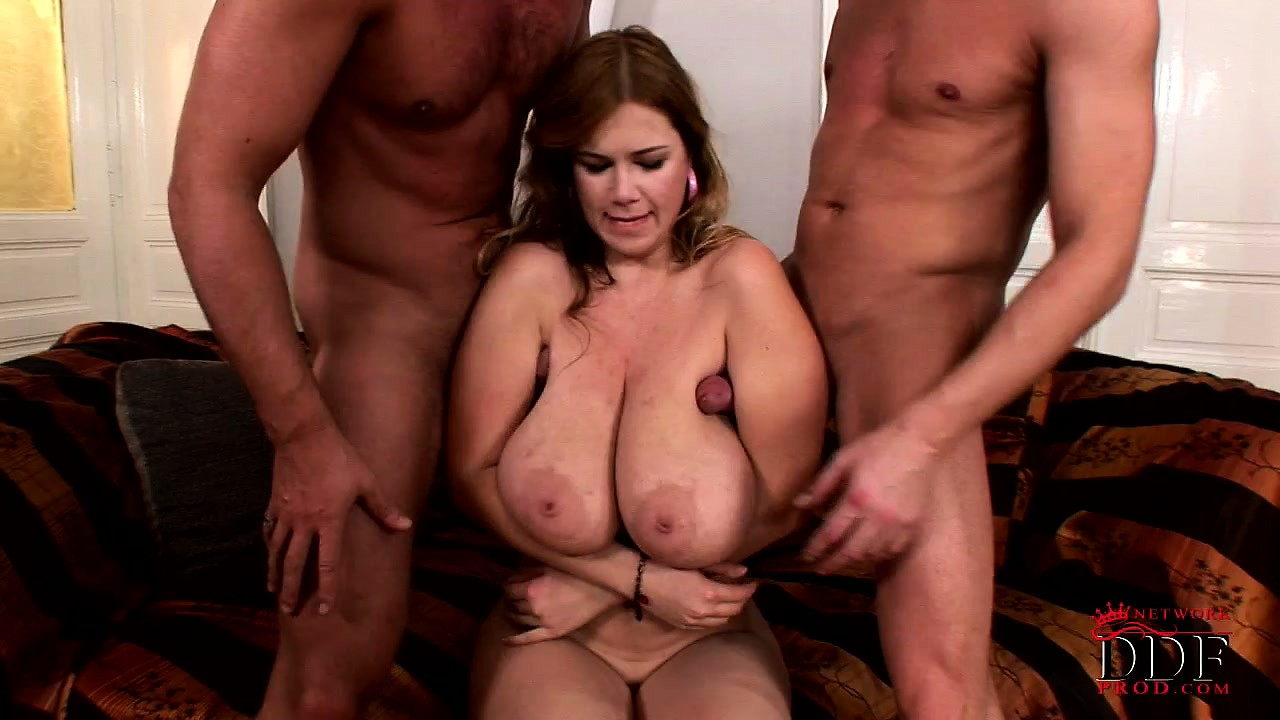 Porno Video of The Stacked Milf Relishes The Hardcore Threesome And Takes Their Cum On Her Boobs