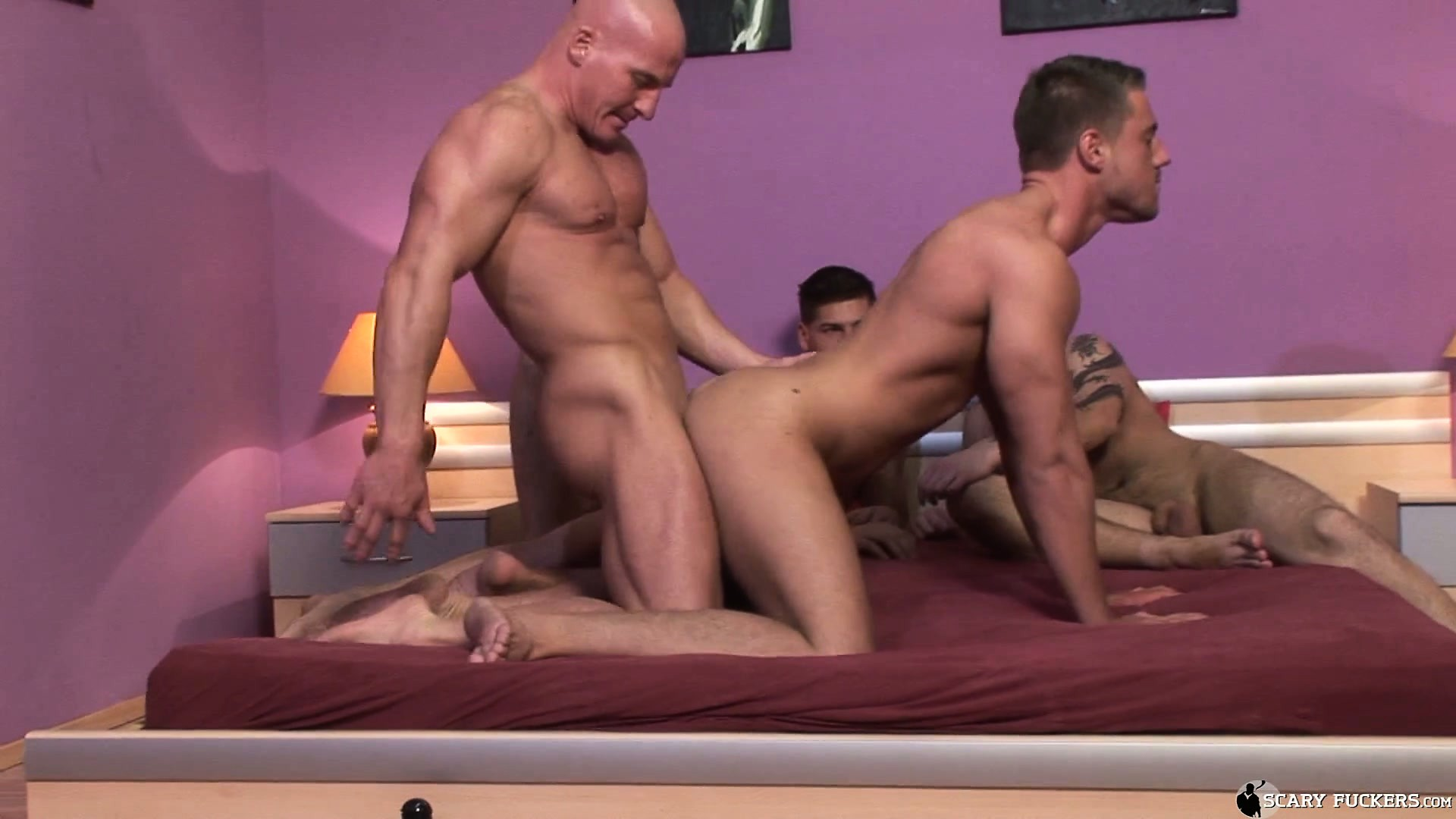 Porn Tube of Breeding Party Muscle Gets Underway As Dirty Fuckers Begin Sex Play