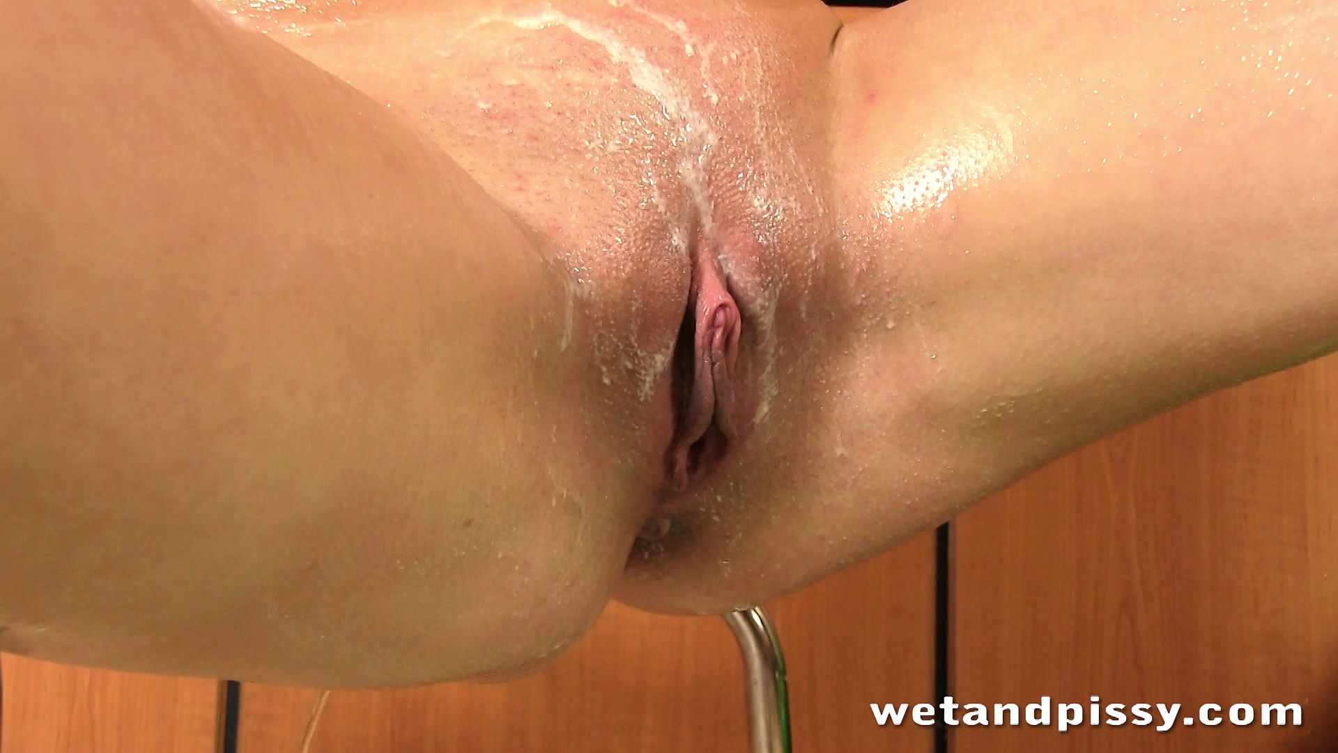 Porn Tube of Horny And Oiled Bitch Looks Super Hot In That Amazing Pissing Show
