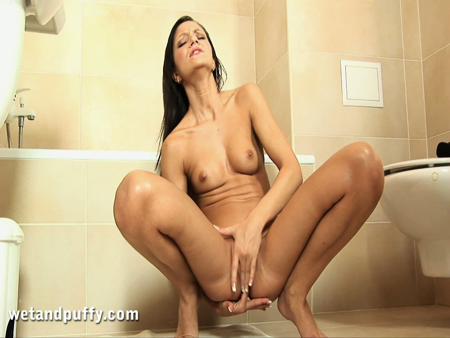 Porn Tube of Aiden Slides Her Fingers Deep In Her Tight Holes And Her Body Quivers With Delight