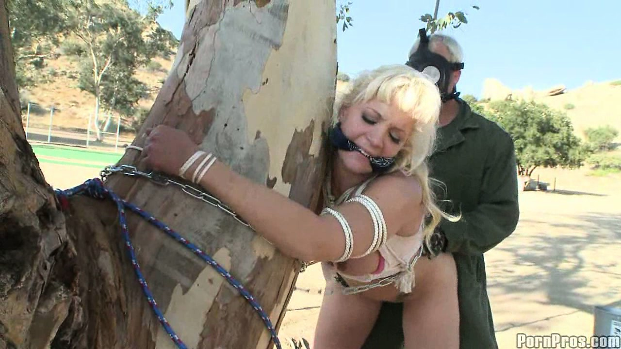 Porno Video of Heidi Mayne Gets Tied To A Tree And Shagged By A Military Brute
