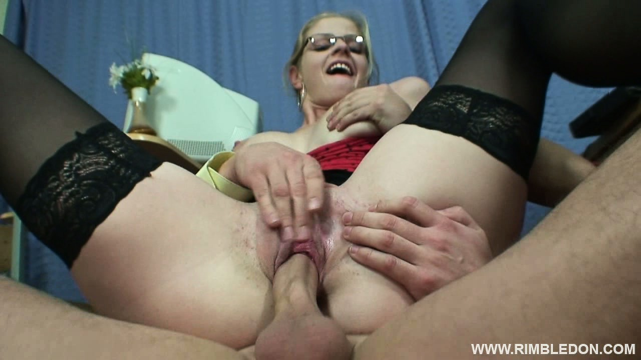 Sex Movie of Busty Blonde Secretary Alana Has Three Guys Fulfilling Her Wild Office Fantasies