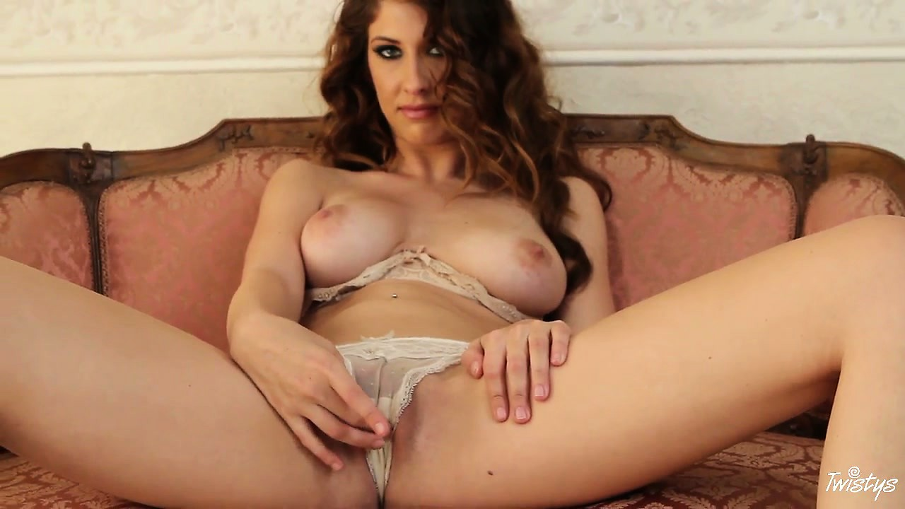 Porno Video of Busty Slut Takes Off Her Silky Patterned Panties For The Camera