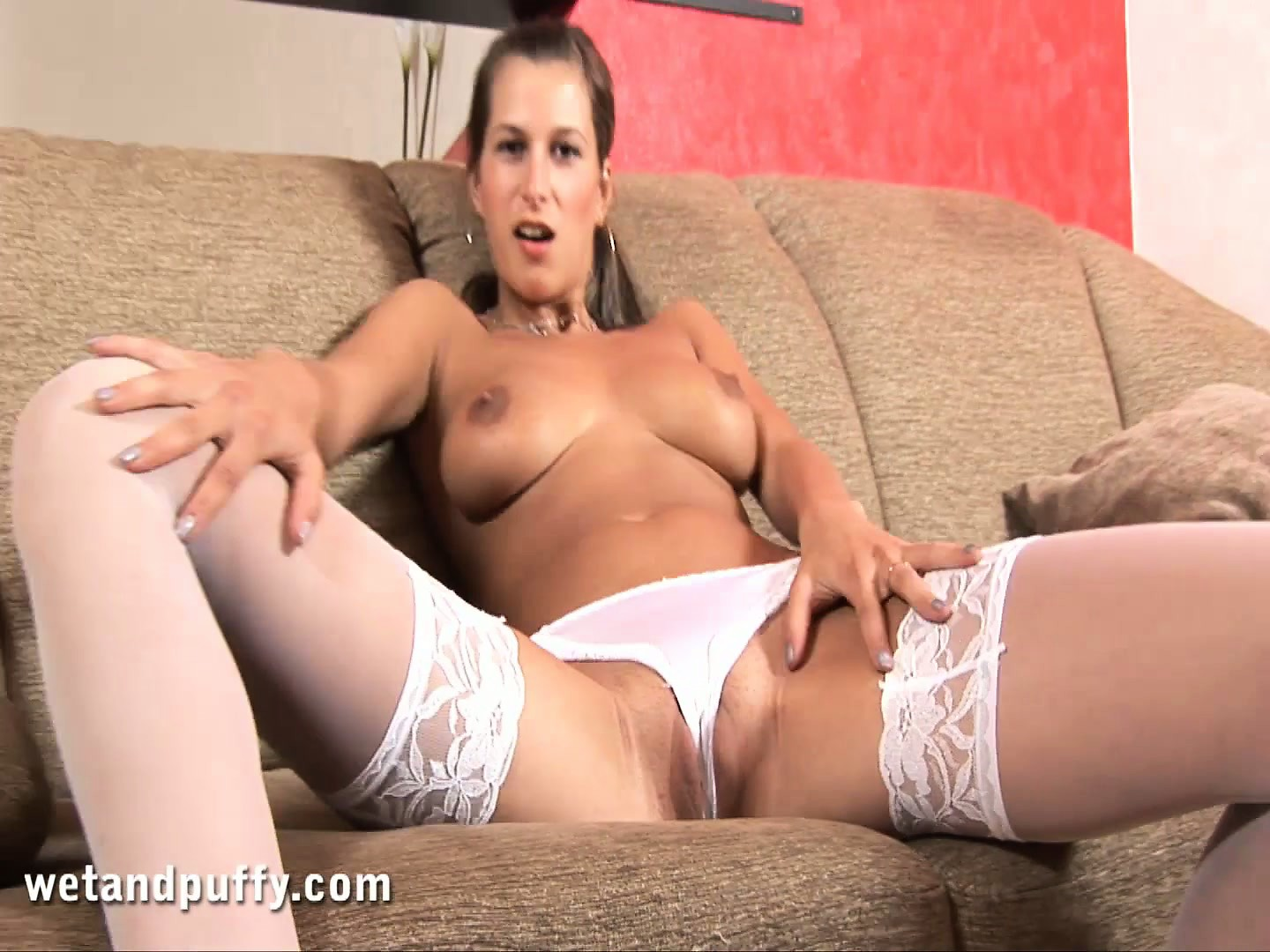 Porno Video of Lusty Lora Puts On A Hot Solo Show Wearing Her Sexy Thigh High Stockings
