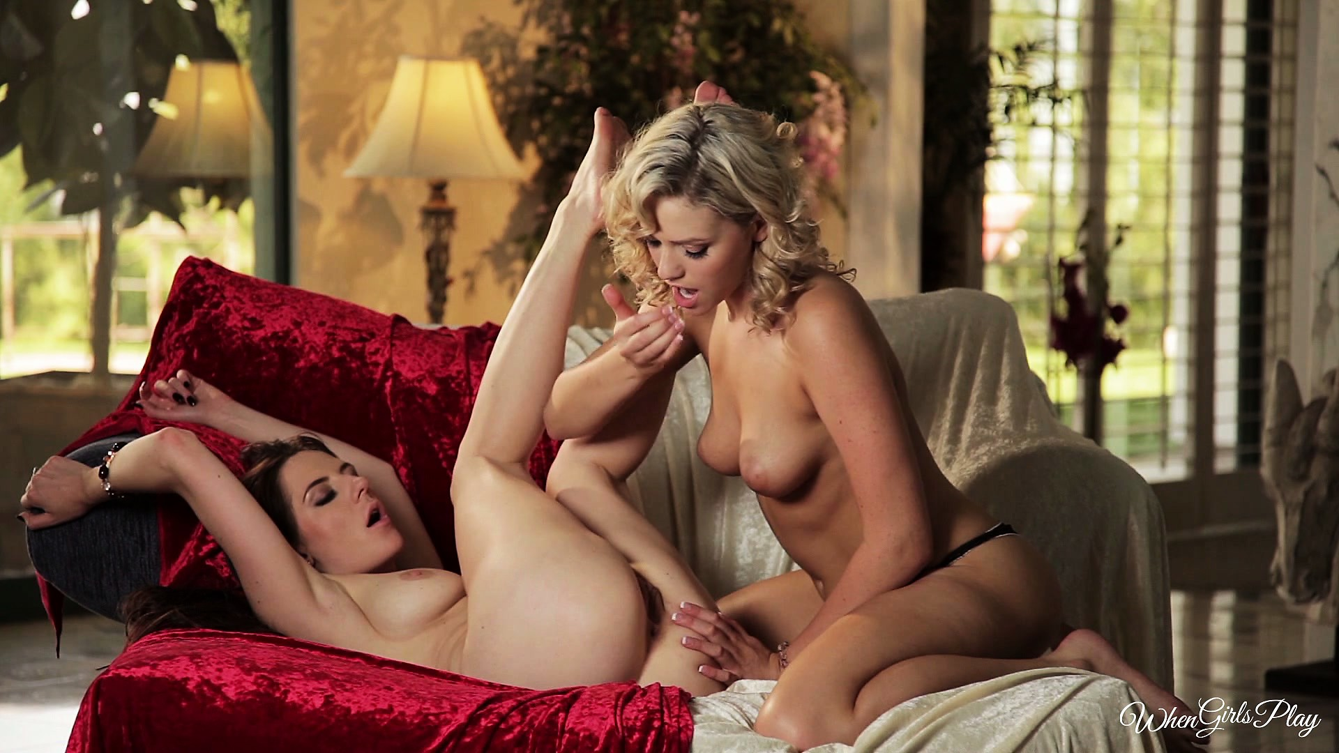 Porno Video of With One Hot Blonde And One Hot Brunette, This Lesbian Action Will Be Hot, For Sure