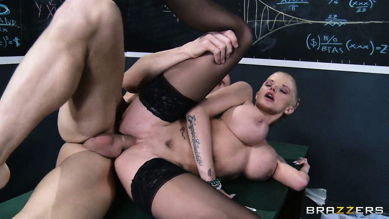 Porn Tube of Skinny Tight Hottie, With A Shaved Head And Almost Bald Pussy, Sits Down On It