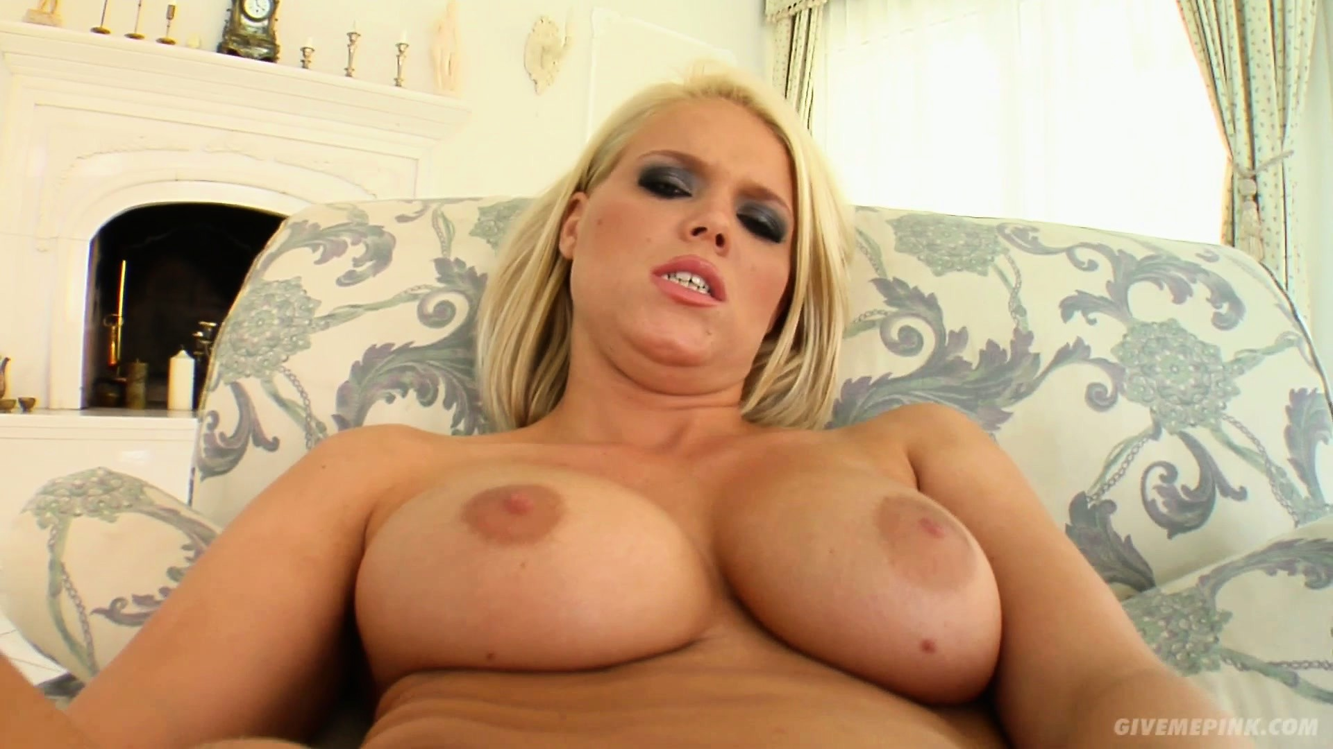 Porno Video of Busty Blonde Milf Trisha Takes Her Pink Vibrating Dildo Deep In Her Snatch