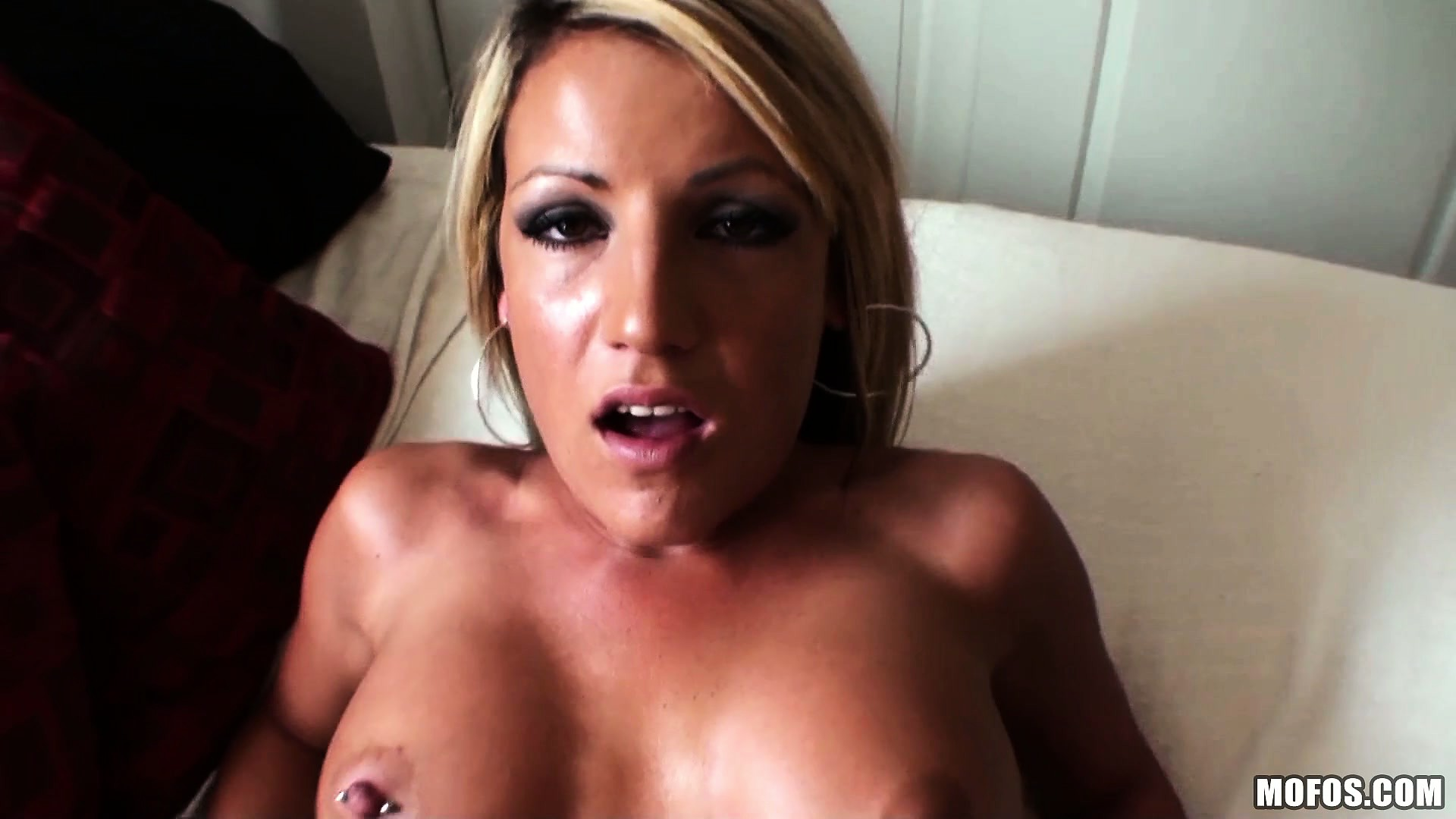 Porno Video of Blond Alt Babe With Pierced Nipples Filmed Fucking Like Crazy