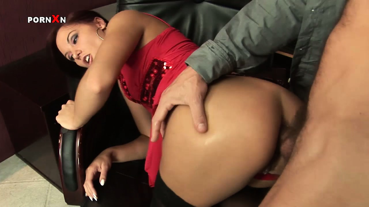 Sex Movie of Sexy Brunette Secretary With A Perfect Body Alysa Has A Big Cock Fucking Her Holes